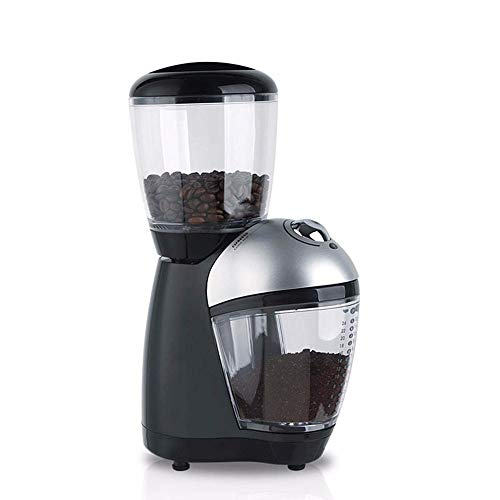ROLLCDE Conical Burr Electric Coffee Grinder, Stainless Steel, Ultra Fine Grind with Cup, 8 Fine, Coarse Grind Size Settings