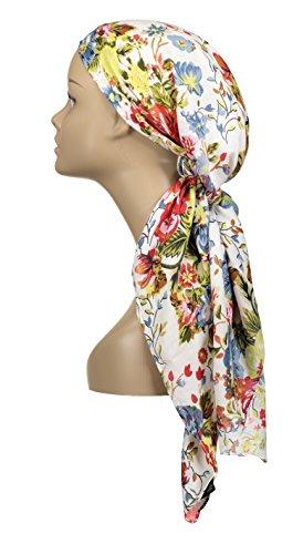 Atara Large Head Wrap Scarf - Red Print - 100% Viscose - by