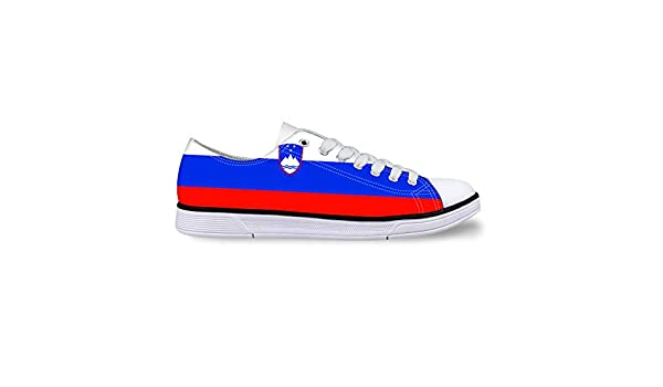 Owaheson Boys Girls Casual Lace-up Sneakers Running Shoes Slovenia Flag