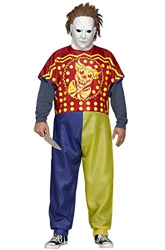 Rob Zombie Michael Myers (Young Michael Myers Clown Adult Costume)