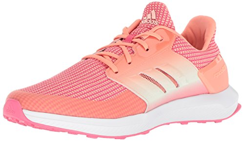 - adidas Originals Unisex-Kids Rapidarun Running Shoe, Real Pink/Chalk Coral/Aero Green, 1 M US Little Kid