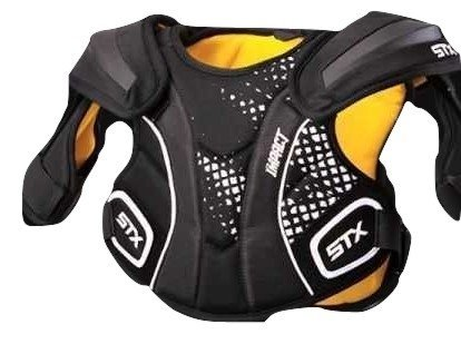 STX Lacrosse Impact Shoulder Pad, Black, Medium – Sports Center Store