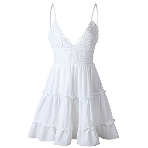Upxiang Frauen Sling Kleid Sexy Halter Bowknot Kleid Sommer Backless ...