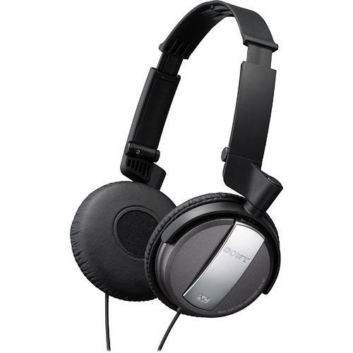 Sony Stereo Noise Canceling Headphones Plus Airplane Adapter Included (Black)