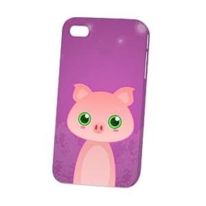 Case Fun Apple iPhone 4 / 4S Case - Vogue Version - 3D Full Wrap - Pig by DevilleART