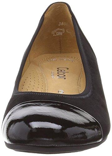 Gabor Shoes 22.691, Zapatos De Tacón, Mujer Negro (Black Suede/Patent)