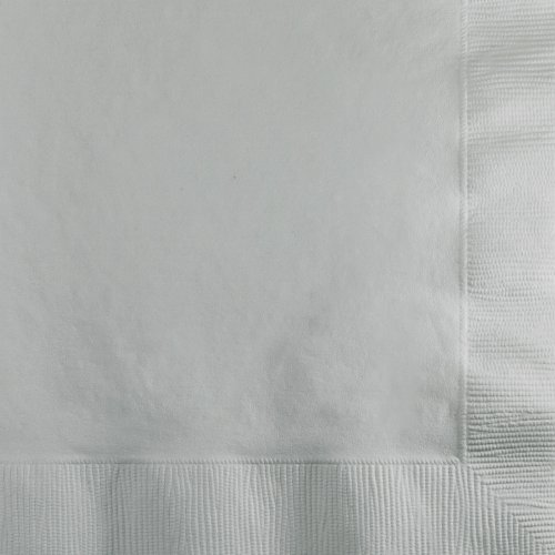 (Creative Converting 253281 BEVERAGE NAPKIN 2PLY, Shimmering Silver)