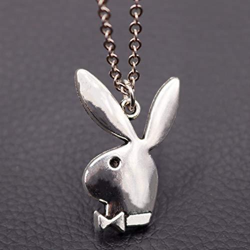 1pcs Antique Silver Rabbit Pendant Creative Handmade Diy Metal Alloy Necklace Gift For Friends