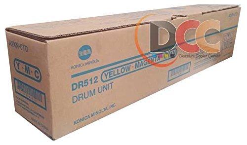 - Genuine Konica Minolta DR-512 Color Drum Unit for Bizhub C224 C284 C364 C454 C554