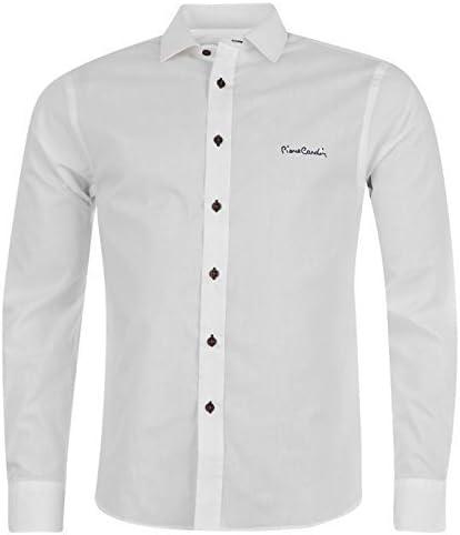 Pierre Cardin - Camisa de manga larga para hombre blanco blanco Talla:L: Amazon.es: Deportes y aire libre
