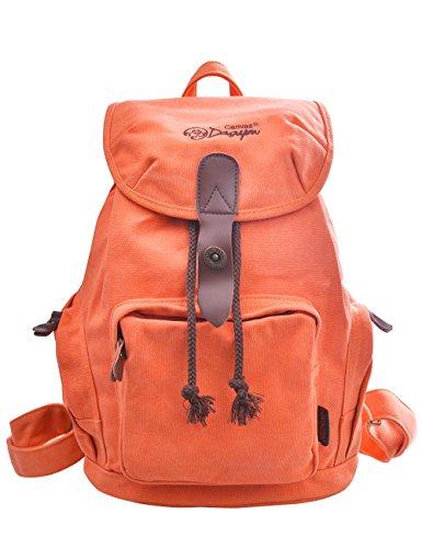 DGY - Moda la mochila de lona y PU cuero Bolsos de Mujer Bolsa de Viaje Mochilas Tipo Casual 164 Azul Rosa Naranja