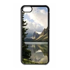 XiFu*Meiiphone 5/5s Case,Lake Hard Shell Back Case for Black iphone 5/5s Okaycosama371492XiFu*Mei