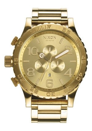 Nixon 51-30 Chrono Watch in All Gold