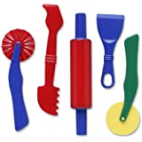 "Creativity Street Dough Tools, 5 Assorted Patterns, 5"" to 8"", 5 Pieces"