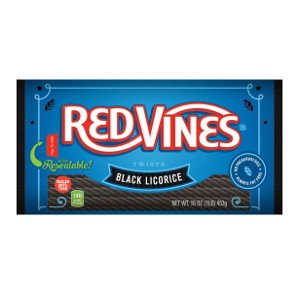 Red Vines Black Licorice Twists 16 oz-Pack of 12
