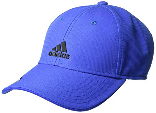 adidas Boys / Youth Decision Structured Adjustable Cap, Hi Res Blue/Black, One Size