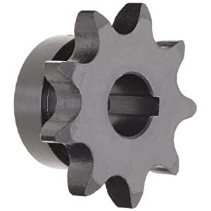 "Tsubaki 50B42F-1G Finished Bore Sprocket, Single Strand, Inch, #50 ANSI No., 5/8"" Pitch, 42 Teeth, 1-7/16"" Bore"