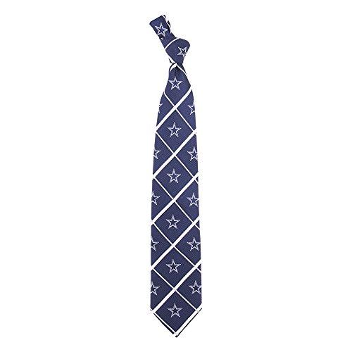 Eagles Wings EAG-7747 Dallas Cowboys NFL Silver Line Woven Silk Mens Tie