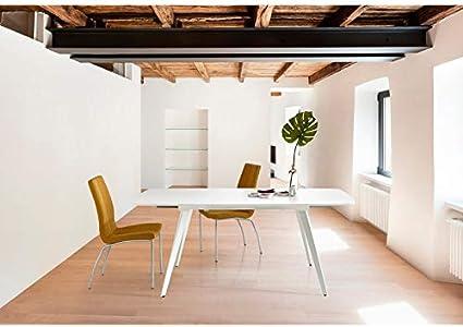 PEÑA VARGAS - SC Living - Mesas Comedor Modernas - Mesa Tessa Blanco Extensible (140x88): Amazon.es: Hogar