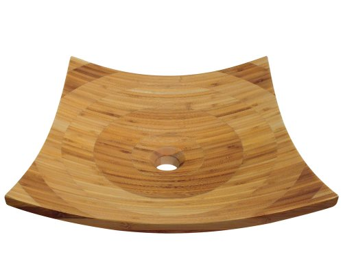 picture of MR Direct 892 Bamboo Vessel Bathroom Sink