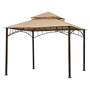 Garden Winds Replacement Canopy Top Cover for Madaga Gazebo – Riplock 350 – Beige