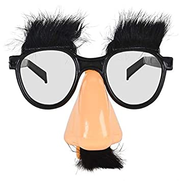 Skeleteen Disguise Glasses with Nose 1 Piece Groucho Marx Funny Old Man Glasses