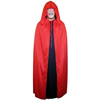 """54"""" Red Cloak with Large Hood ~ Halloween Costume Cape (STC11518)"""