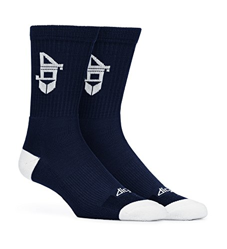 Dig Bamboo Fiber Socks 3 Pairs - Authentic Bamboo Cotton Socks (Navy (Navy Blue Double Arch)