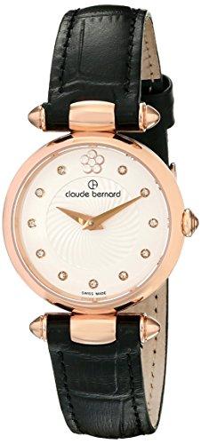 Claude Bernard Women's 20501 37R APR2 Dress Code Analog Display Swiss Quartz Black Watch