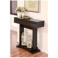 Narrow Console Table Wood Modern Antique Feel Cappuccino Brown. A Truly Classic Fixture. Display Photos Etc. As Well As Well As Family Pieces, Flowers, Picture Frames Statues Etc. A Classy Decorative Piece to Blend in with Any Living or Dining Room.