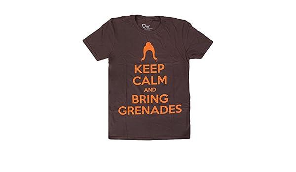 Firefly Serenity Keep Calm /& Bring Grenades Brown Juniors T-Shirt