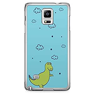 Samsung Note 4 Transparent Edge Phone Case Kids Phone Case Dinosaur Phone Case 2D Note 4 Cover with Transparent Frame