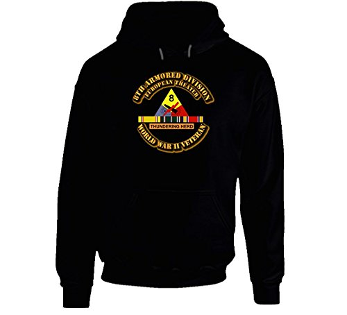 XLARGE - SSI - 8th Armored Division - Europe - WWII Hoodie - Black