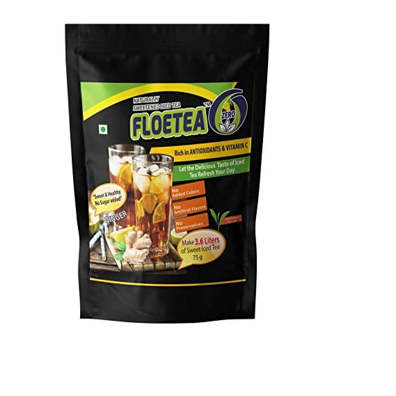 Floetea Zero, Instant Iced Tea Mix, Sweet but Sugar Free, Zero Carbohydrates, Healthy Drinks with Stevia, Make 3.6 Liters/Pack.