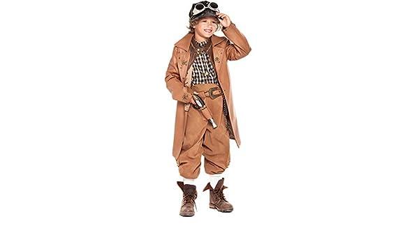 chiber Disfraces Disfraz de Viajero del Tiempo para Niño (Talla 7 ...