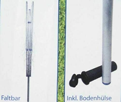 50m Leinenl/änge 182cm Posten Anker W/äschespinne ALU H/öhenverstellbar W/äscheschirm W/äscheleine inklusive Bodenh/ülse
