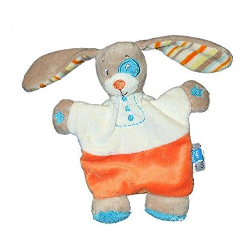 Doudou conejo blanco beige Tex Baby Carrefour Coquard rayas H 20 cm: Amazon.es: Bebé
