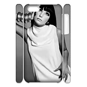 DIY Hard Plastic Case Cover for Iphone 5C 3D Phone Case - Cher HX-MI-070526