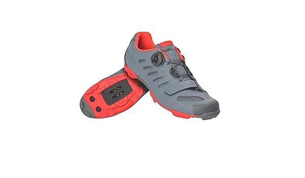 Scott MTB Team Boa Shoes 44 Cool Grey//Neon Orange