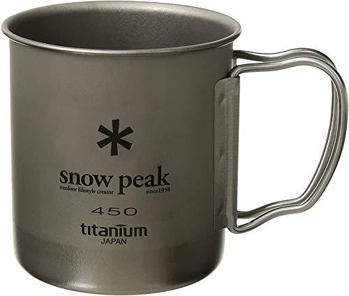 Snow Peak Men's Titanium Single Wall 450 Mug, Silver, One Size
