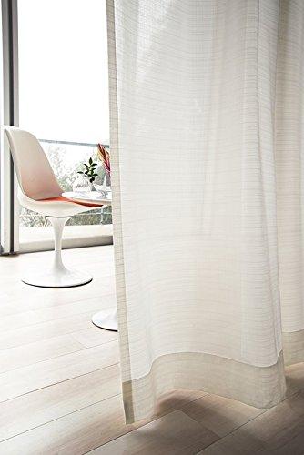 東リ ランダムなヨコ糸のラメが光る美しい生地 カーテン1.5倍ヒダ KSA60462 幅:200cm ×丈:260cm (2枚組)オーダーカーテン B0784X2PZ7