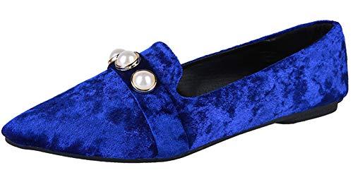F Plates Basse Aisun Bout Perles Confortable Femme Chaussures Pointu fq1xxwUHAF