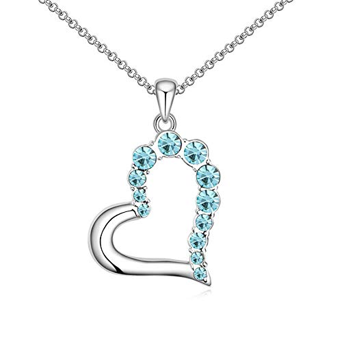 ZhongYi Sweetheart Heart-Shaped Crystal Necklace ()