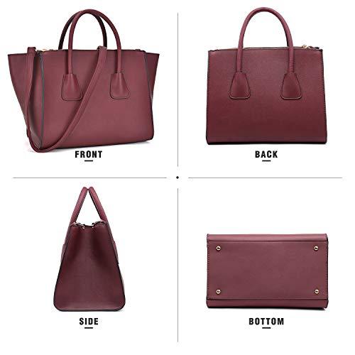 Dasein Women Winged Handbags Designer Shoulder Bag Structured Tote Satchel Purses by Dasein (Image #4)