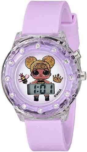 L.O.L. Surprise! Girls' Quartz Watch with Plastic Strap, Purple, 16 (Model: LOL4044)