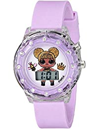 Girls' Quartz Watch with Plastic Strap, Purple, 16 (Model: LOL4044)