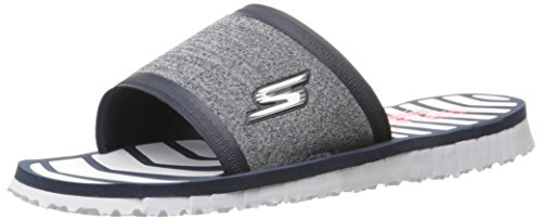 Skechers Performance Womens Go Flex Contano Flip Flop Navy / White