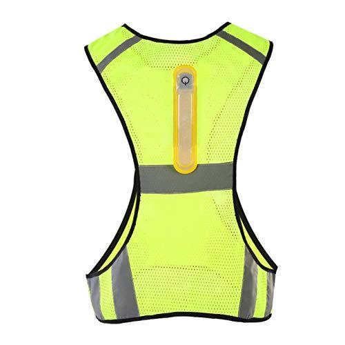 Machinewasbaar, reflecterend veiligheidsvest voor outdoorsport 's nachts (fluorescerend geel)
