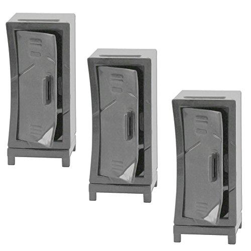 Set of 3 Hardcore Lockers for WWE Wrestling Action Figures by Figures Toy Company