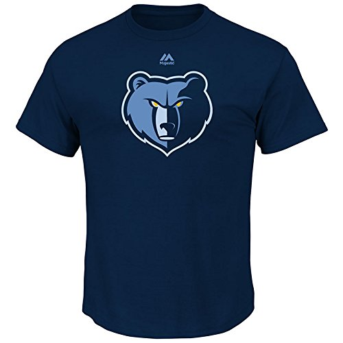 (NBA Memphis Grizzlies Men's Logo II Short Sleeve Basic Tee, Medium, Athletic Navy)